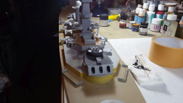 USS Missouri BB-63 - Ungefähr 1949-51- 1-200 von Trumpeter E6pig98x