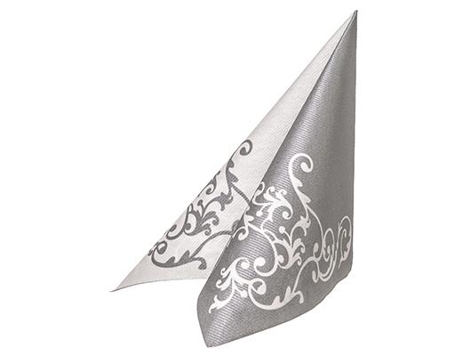 50 servietten motivservietten pomp silber weiss 40x40 cm airlaid mank ebay. Black Bedroom Furniture Sets. Home Design Ideas