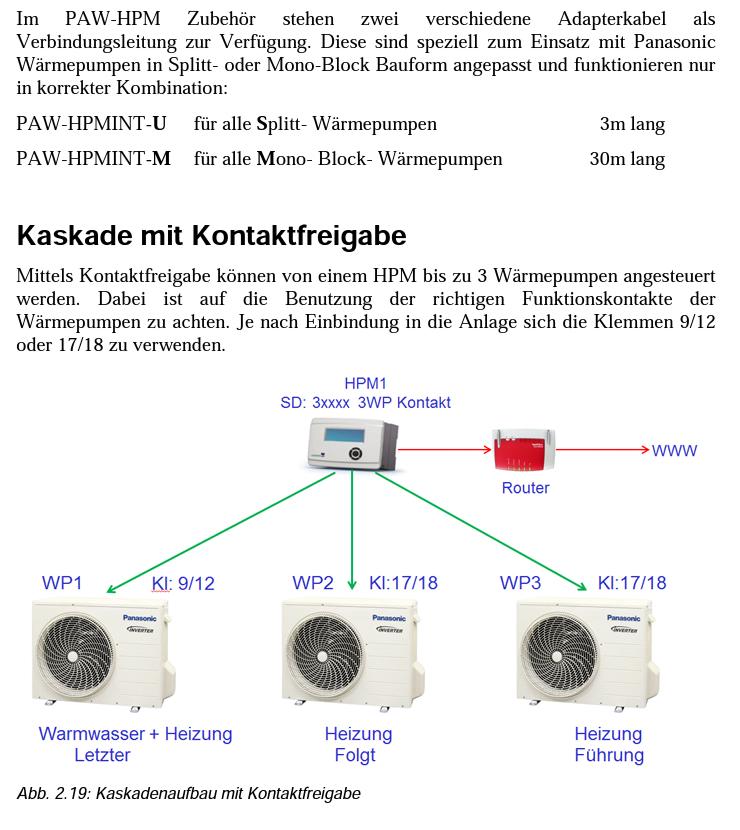 Panasoic Aquarea Kaskadenschaltung - HaustechnikDialog