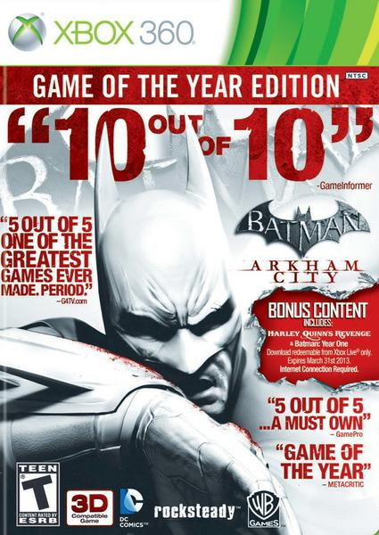 Batman Arkham City Game of the Year Edition XBOX360 – COMPLEX