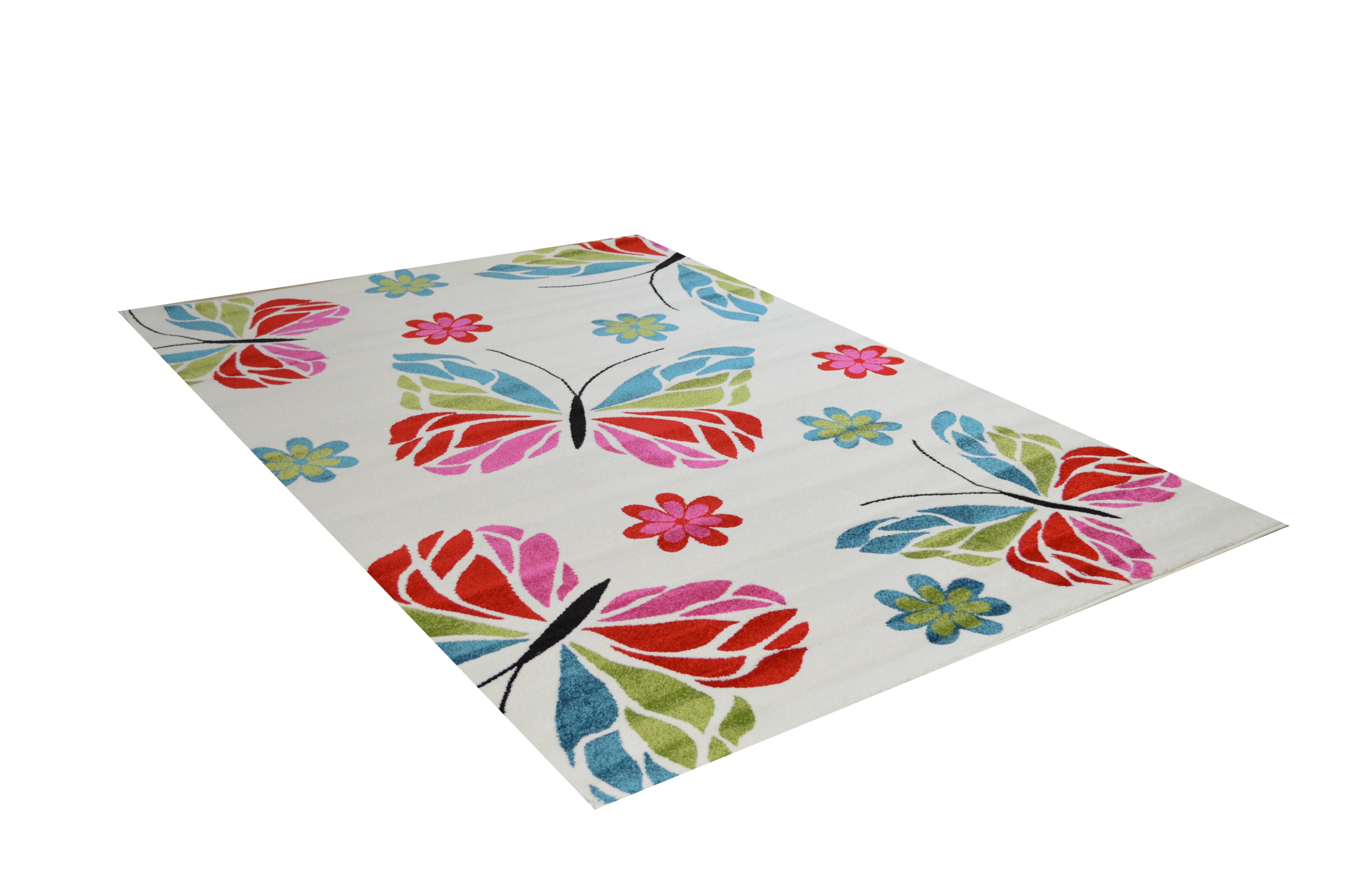 Kinder Teppich Schmetterling Farbe Weiss  eBay
