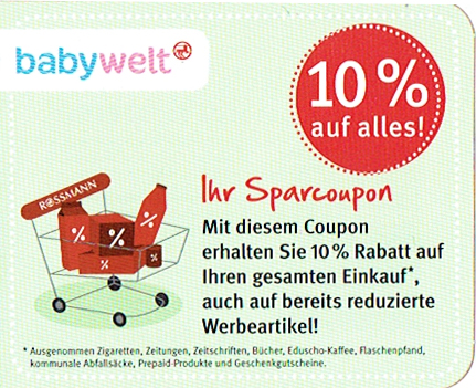 rossmann 10 rabatt coupon ausdrucken pdf dubai discounts. Black Bedroom Furniture Sets. Home Design Ideas