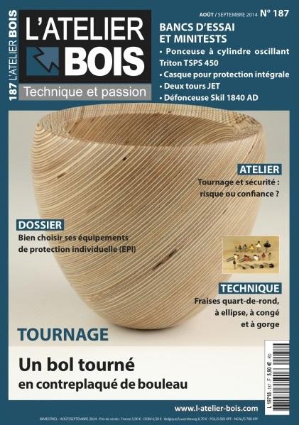 L'Atelier Bois Magazine No.187 - Août-Septembre 2014