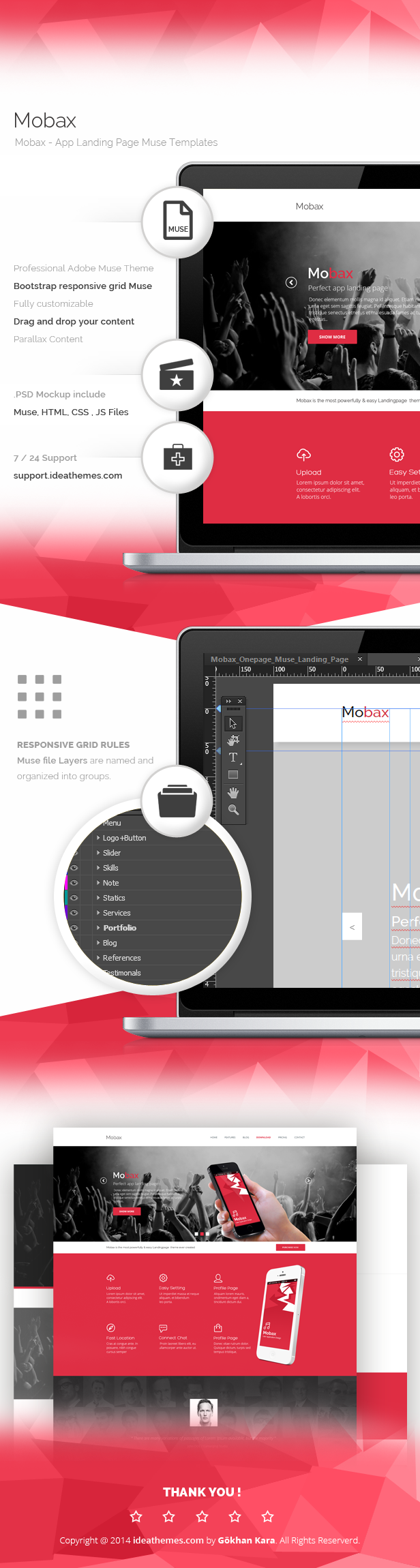 Mobax - App Landing Page Muse Templates