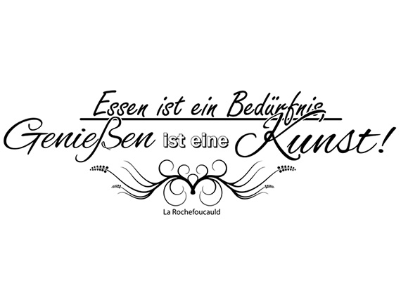wandtattoo wandsticker k chen spr che essen ist ein bed rfnis nr 4 wandaufkleber ebay. Black Bedroom Furniture Sets. Home Design Ideas