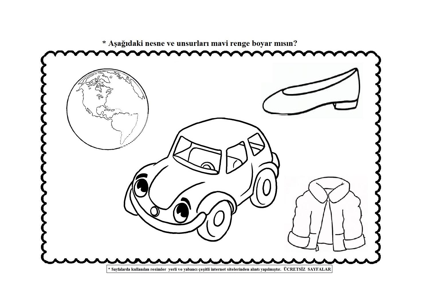 Renk Kavramı çalışma Sayfaları Okul öncesi Paylaşım Forumu