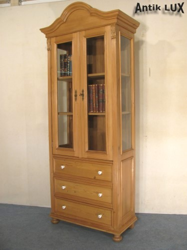 jugendstil vitrine in weichholz schrank regal anrichte kommode vertiko ebay. Black Bedroom Furniture Sets. Home Design Ideas