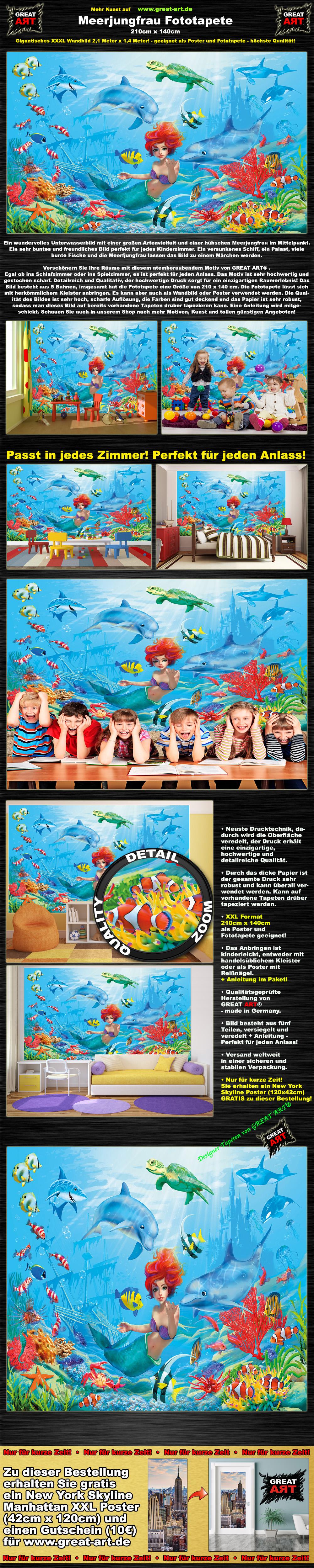 Fototapete Unterwasserwelt : Details zu Unterwasserwel t XXL Fototapete Kinderzimmer Wanddekoration