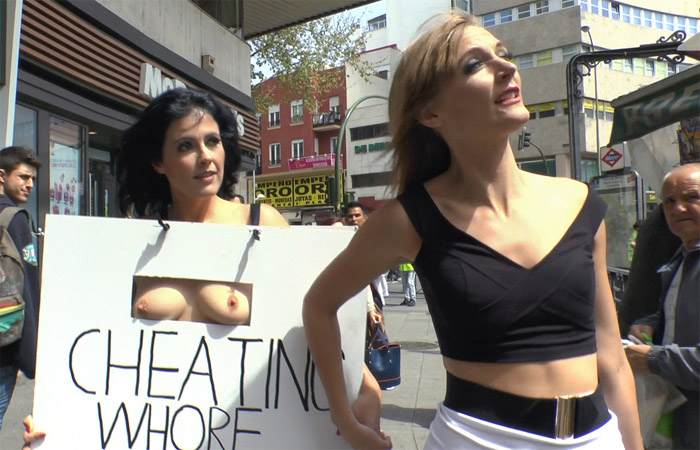 Public Disgrace - Montse Swinger - Cheating Wifes Big Hot Ass Shamed Fully Naked In Public Display WebRip (2015)