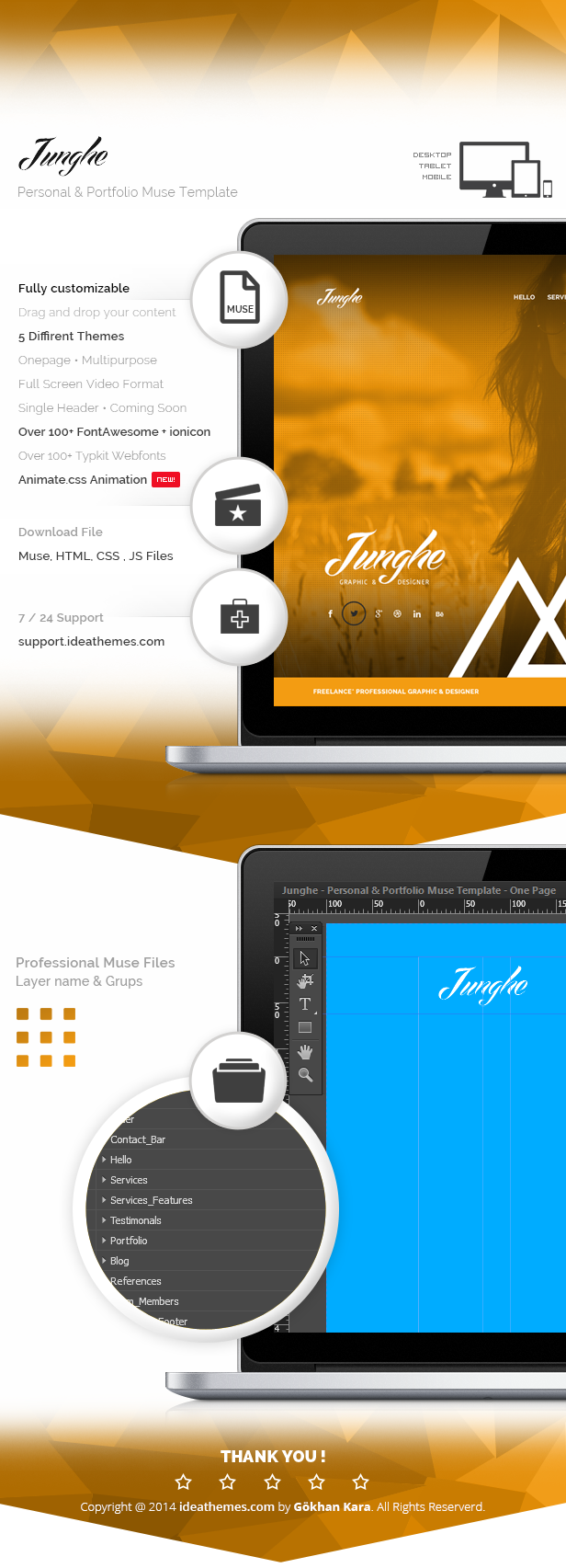Junghe - Personal & Portfolio Muse Template
