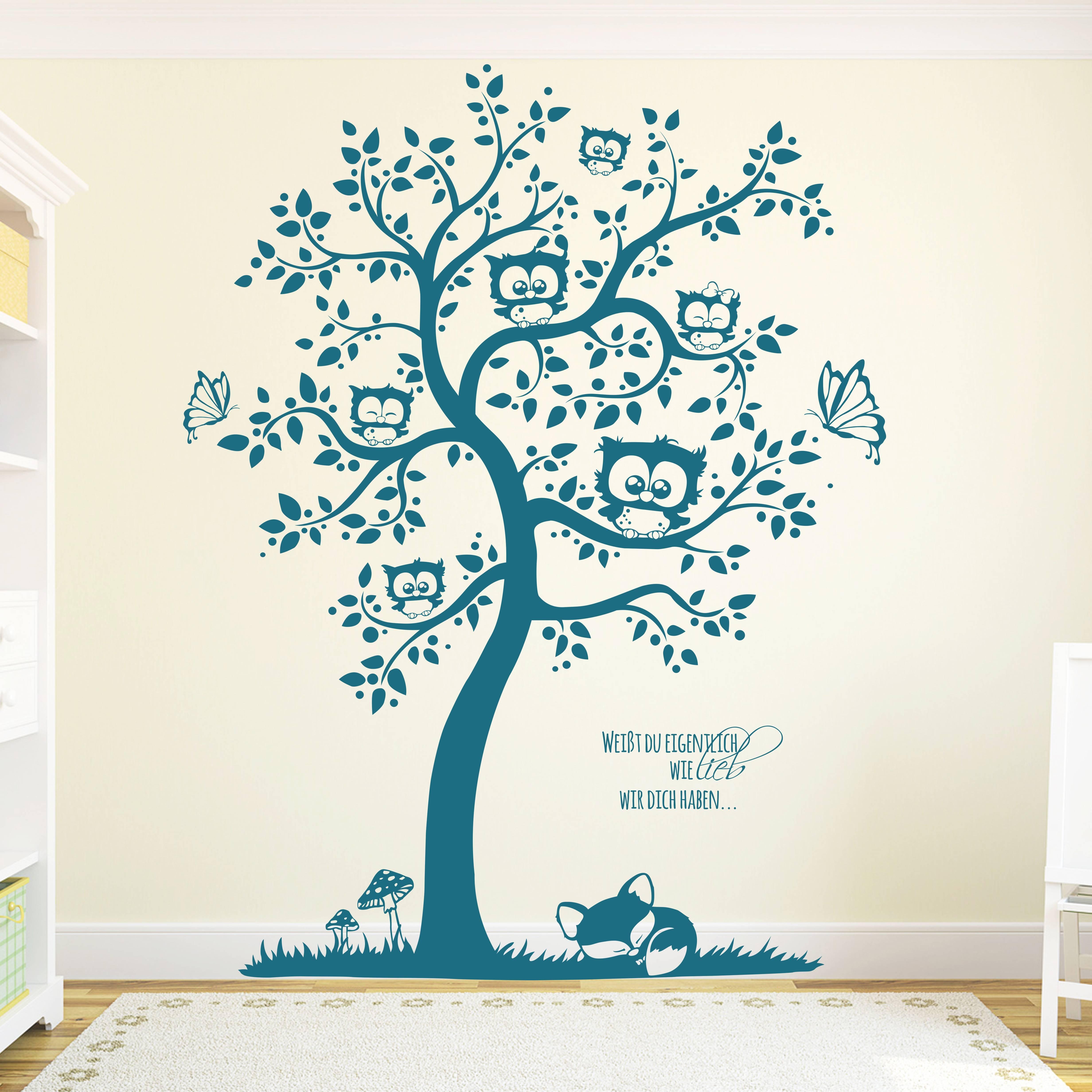 wandtattoo affen auf baum mit leopard name m1596 ebay. Black Bedroom Furniture Sets. Home Design Ideas