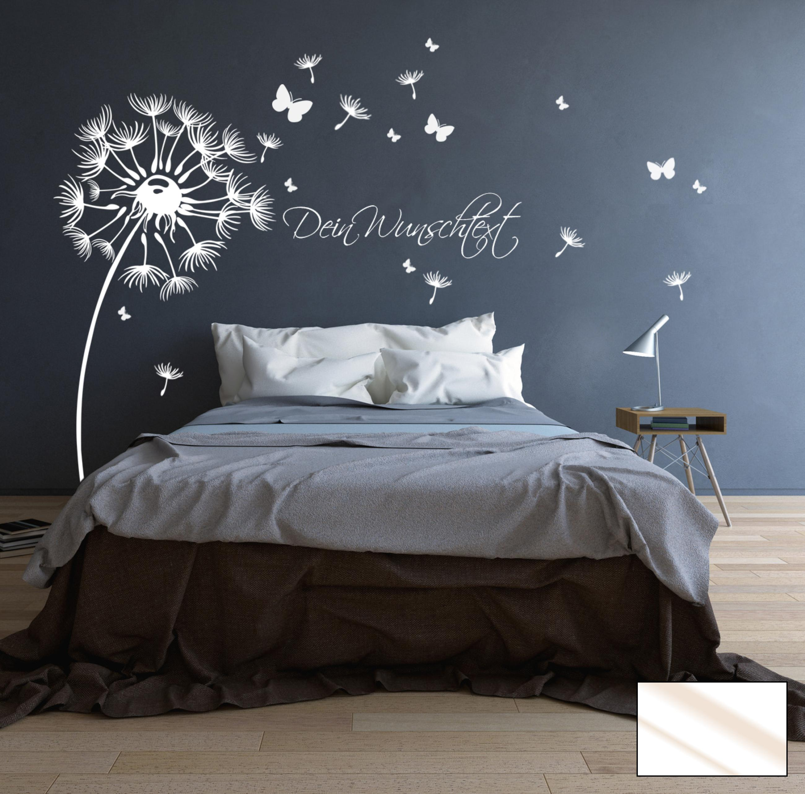 wandtattoo pusteblume bl ten schmetterlinge wunschtext m1416 ebay. Black Bedroom Furniture Sets. Home Design Ideas