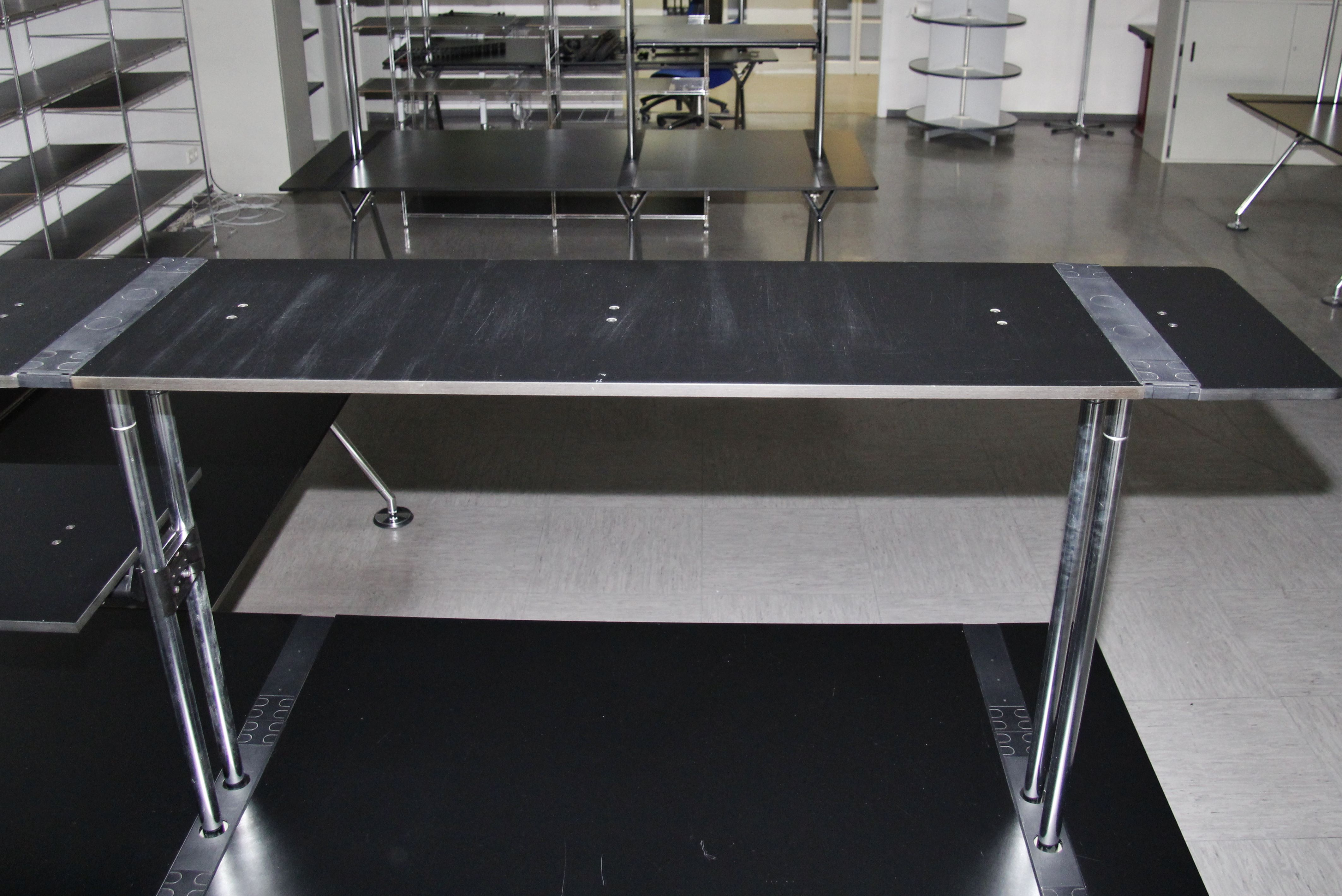 tecno nomos by norman foster schreibtisch mit anbautisch 6439 ebay. Black Bedroom Furniture Sets. Home Design Ideas