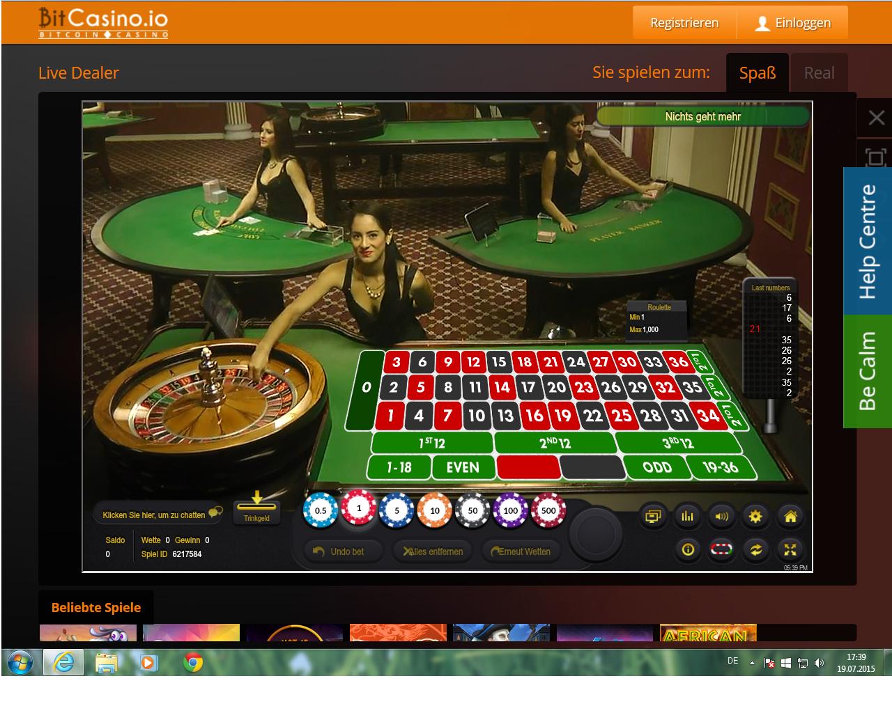 live roulette online übersicht