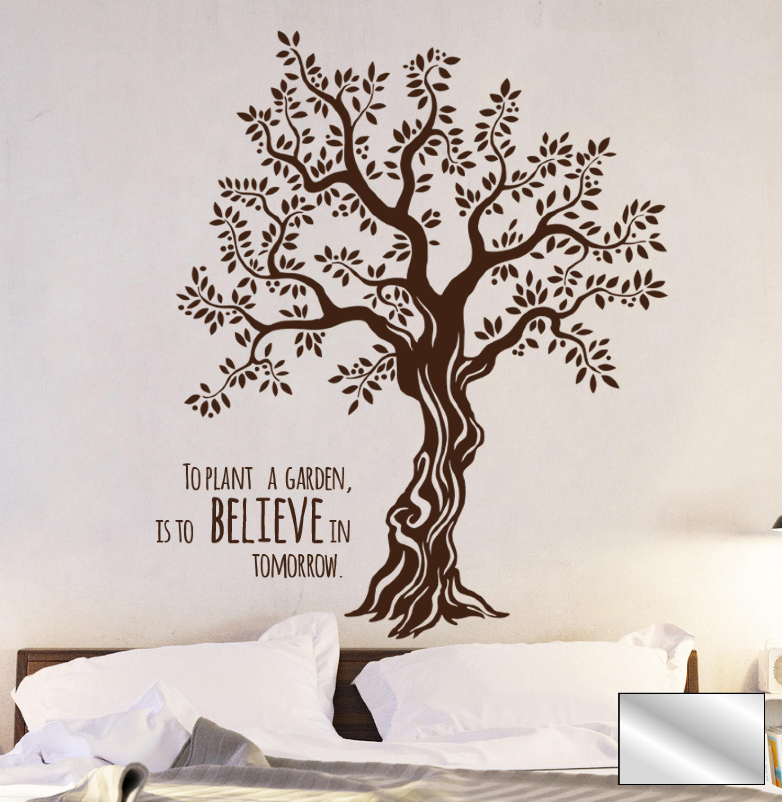 wandtattoo baum olivenbaum mit spruch m1567 ebay. Black Bedroom Furniture Sets. Home Design Ideas