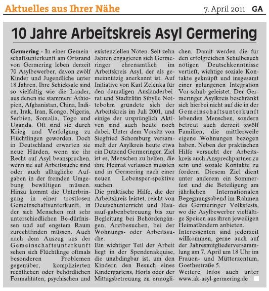 10 Jahre AK Asyl