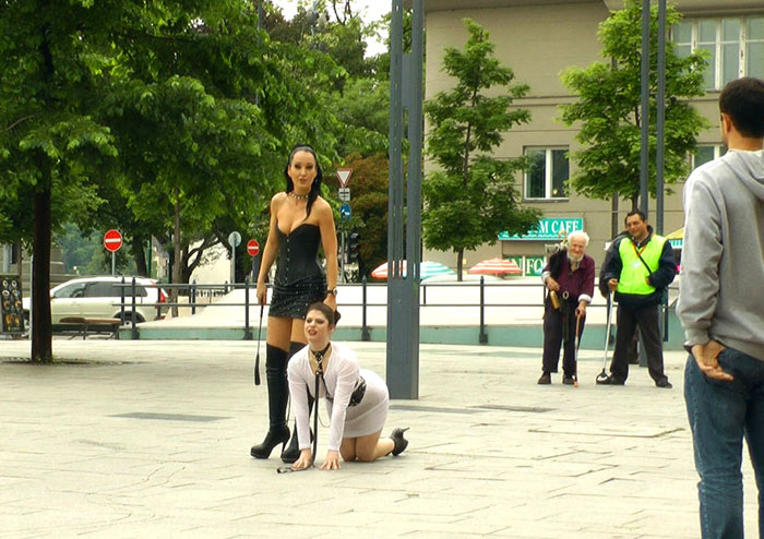 Public Disgrace - Lucia Love - Disgusting Piss Guzzling Slut Paraded Through Budapest WebRip (2015)