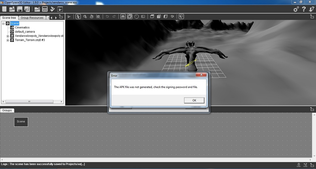 Create APK does not work / Openspace3D / Scolring - Forum