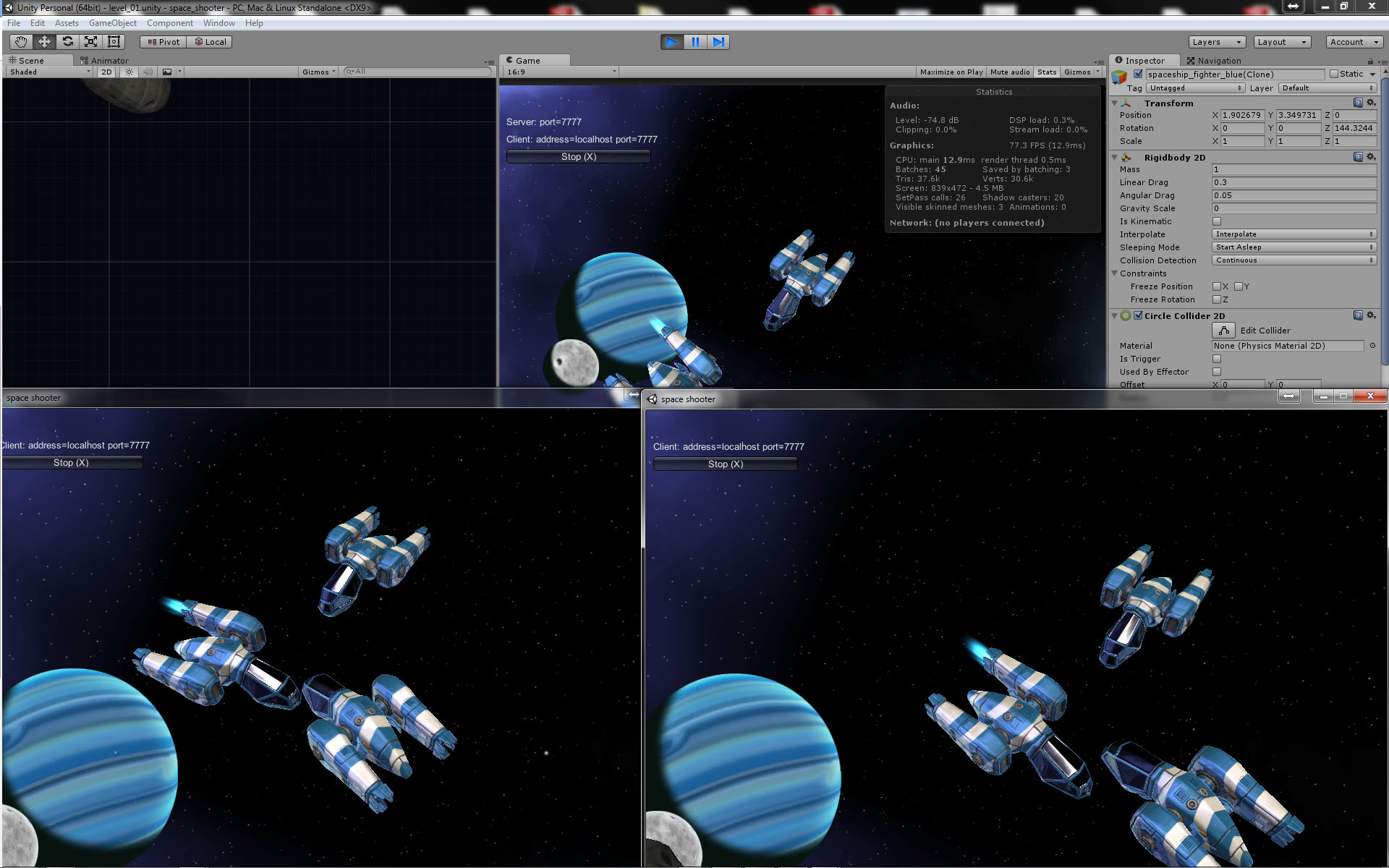 Unity] Space Shooter (Working Title) — polycount