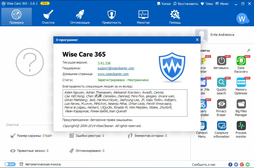 Wise Care 365 Pro 3.81.338 [RePack] [Shareware]
