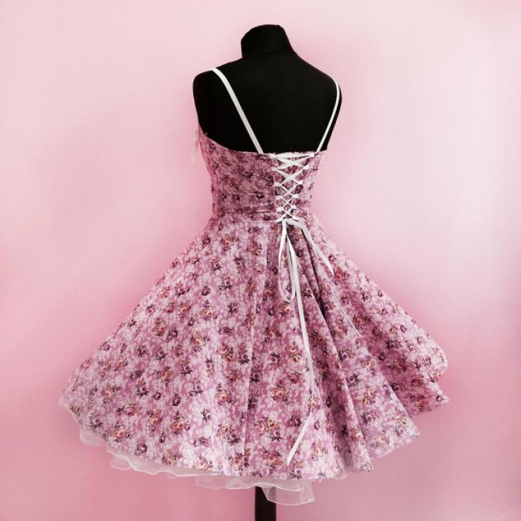 neu abendkleid petticoatkleid abiballkleid 50er jahre rose. Black Bedroom Furniture Sets. Home Design Ideas