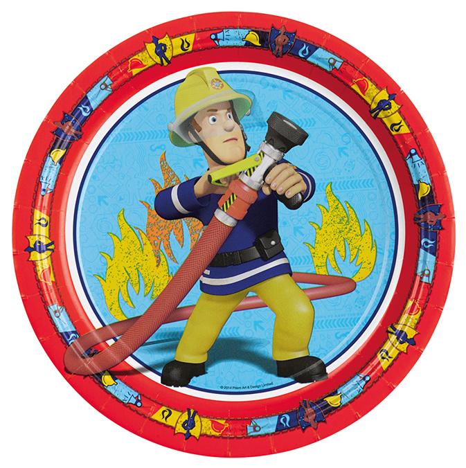 Feuerwehrmann Sam Pappteller 8 Stck.998149