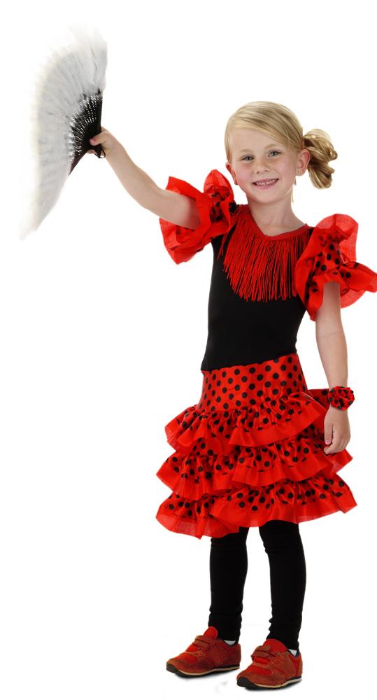 kinder kost m spanische t nzerin als karnevals verkleidung. Black Bedroom Furniture Sets. Home Design Ideas