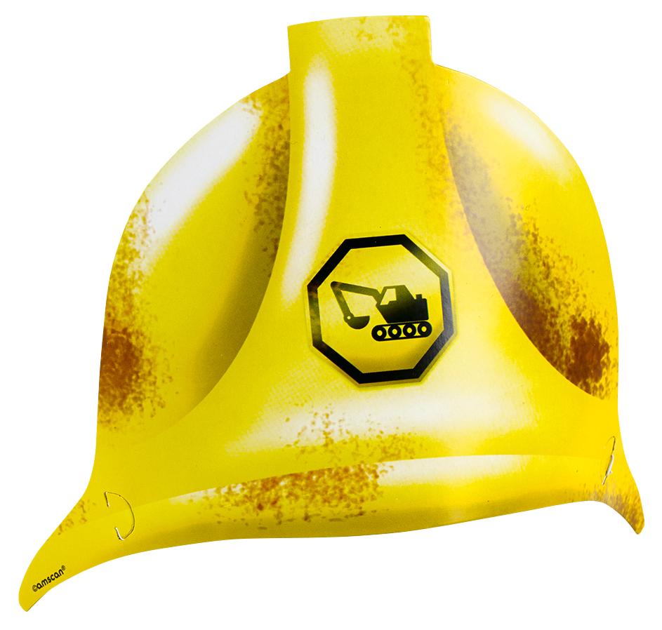 // Baustellen Party Construction 8 Party Helme 998331--