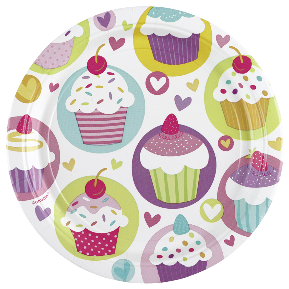 // Cupcake Party 8 Teller groß 997209