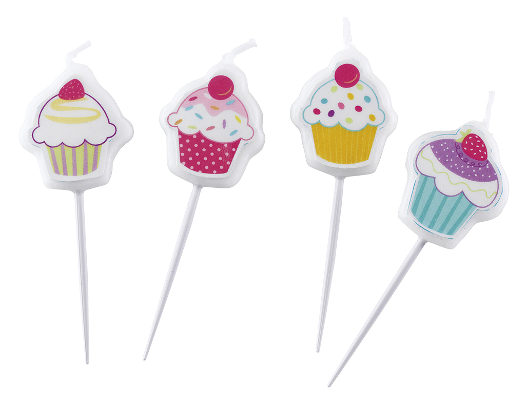 Cupcake Party Mini-Figurenkerzen 997220