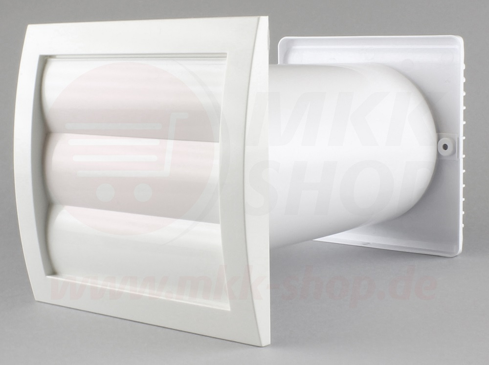 mauerkasten 100 125 wandventilator bad abluft rohr dunstabzug l ftungsgitter. Black Bedroom Furniture Sets. Home Design Ideas