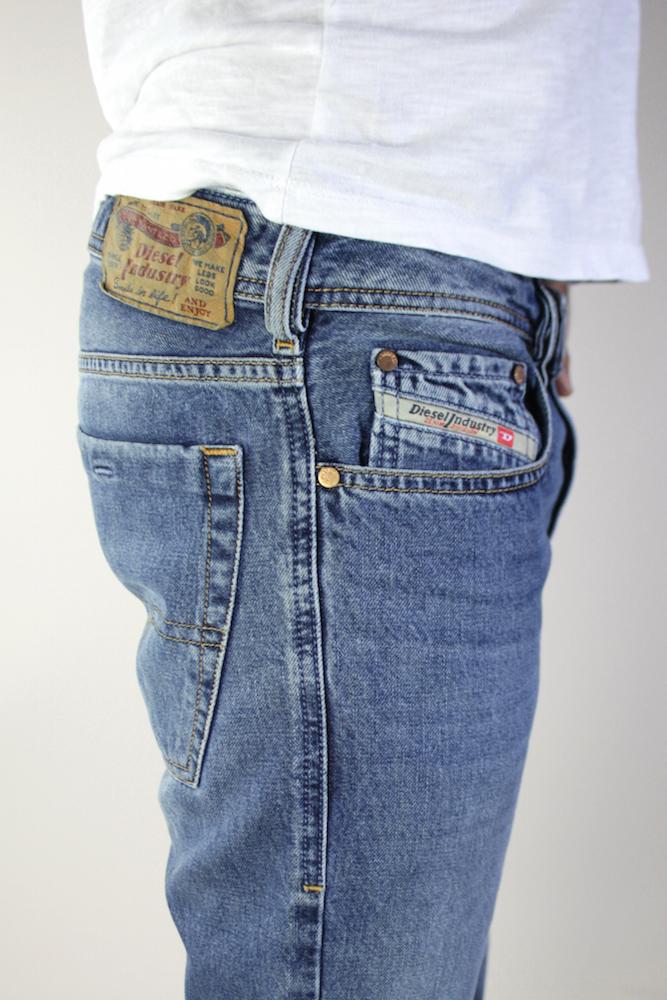 neu diesel zatiny herren boot cut jeans hose 0800z. Black Bedroom Furniture Sets. Home Design Ideas
