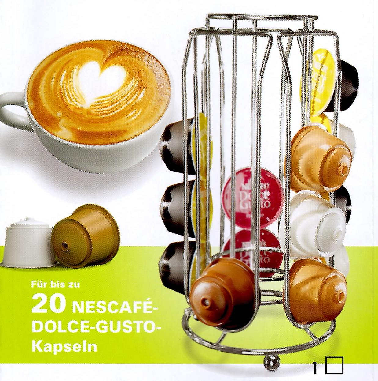 nescafe dolce gusto kaffee kapselhalter kapsel halter spender kapselst nder. Black Bedroom Furniture Sets. Home Design Ideas