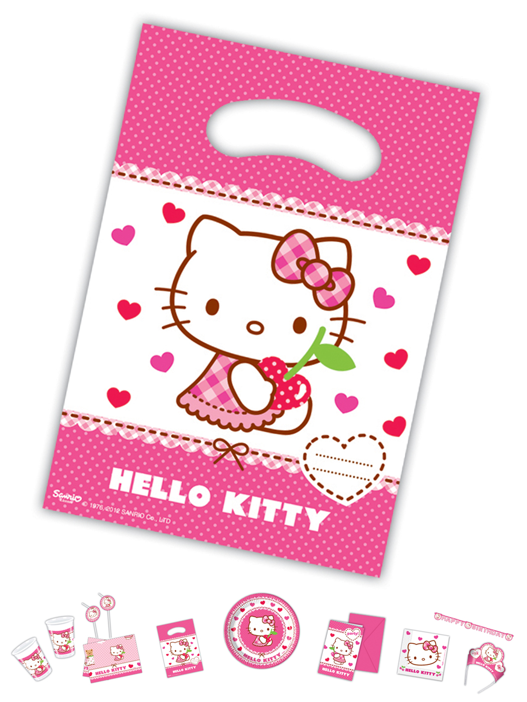 Hello Kitty Motiv Herz 6 Party Tütchen P81796--