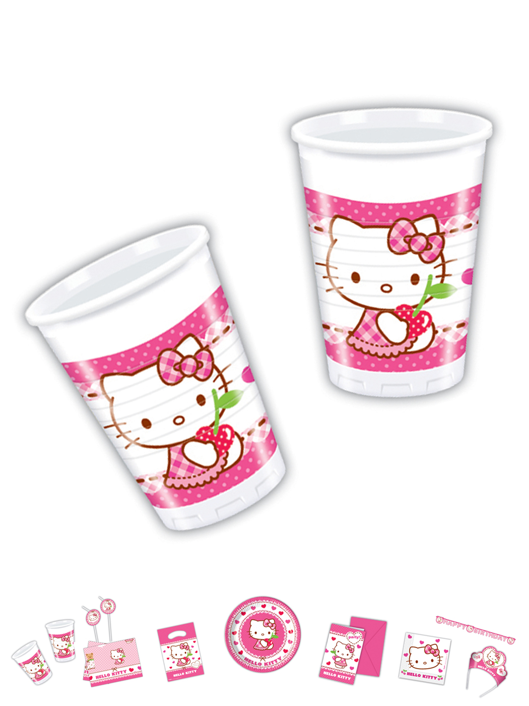 Hello Kitty Plastik Becher 8 Stck. P81793--