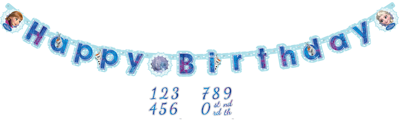 """// Frozen Geburtstagsbanner """"Happy Birthday"""" mit Jahreszahl a999260"""