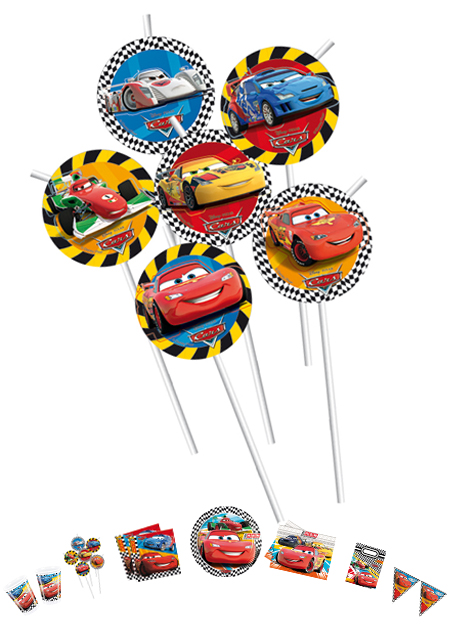 Cars Trinkhalme Medaillon P81572