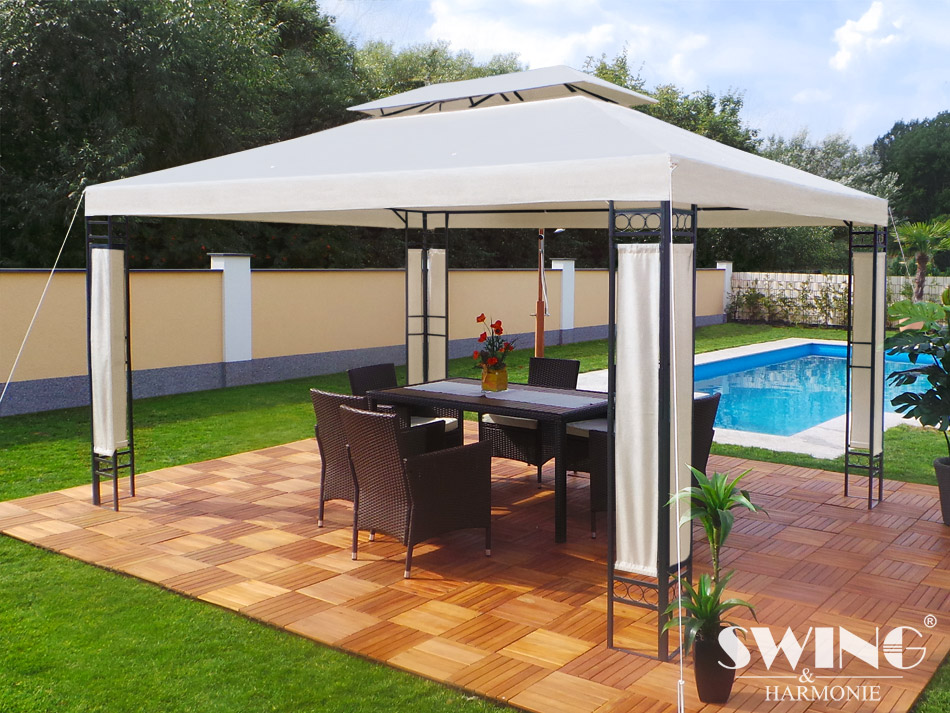 swing harmonie pavillon milano 3x4m pavilion design. Black Bedroom Furniture Sets. Home Design Ideas