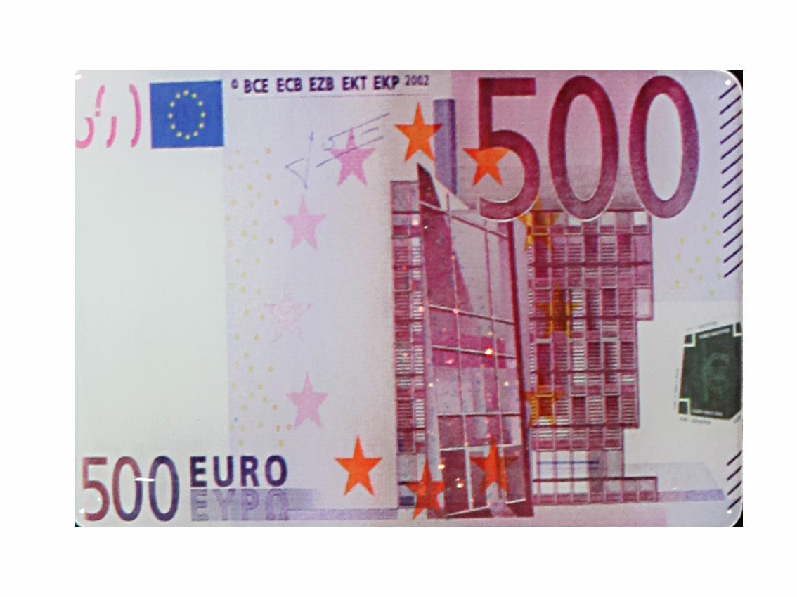 magnet euro schein 100 500 geld geschenk geburtstag k hlschrank pinnwand notizen ebay. Black Bedroom Furniture Sets. Home Design Ideas