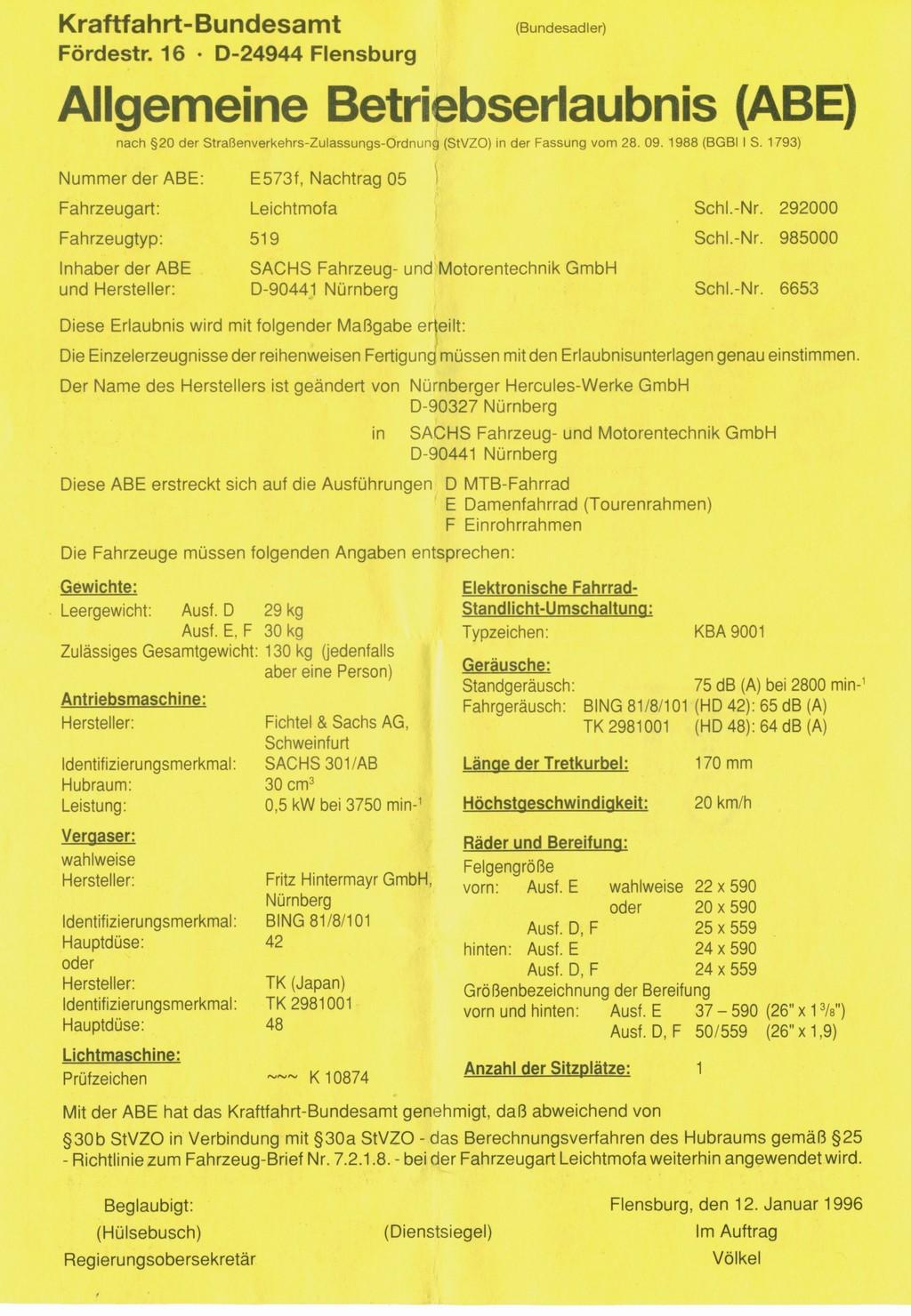 Ausführungs-Buchstaben - Komplettansicht - hilfsmotor.eu - Rund um ...